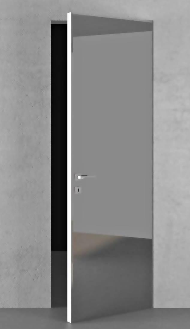 Межкомнатные двери скрытого монтажа с зеркалом