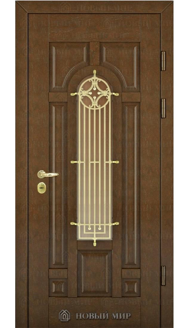 Входные двери Новый мир Русь со с/п и решеткой
