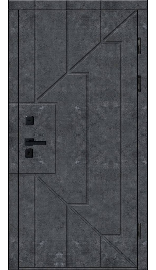 Входные двери Новый мир Бетон линии