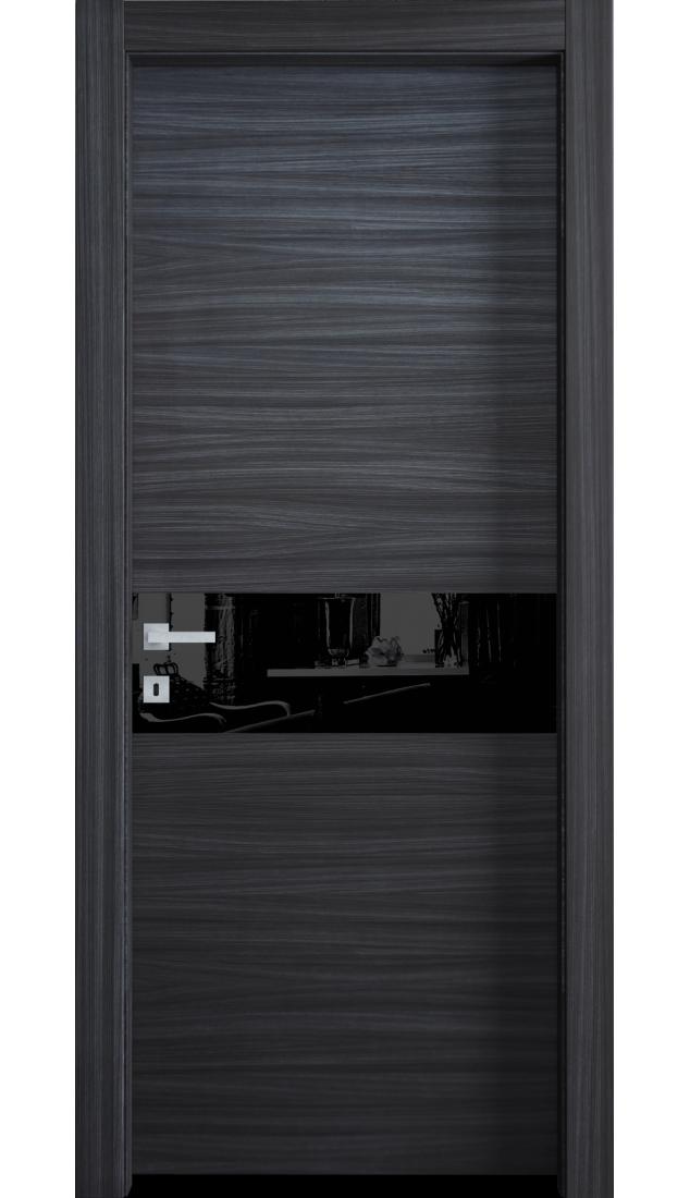 Межкомнатные двери Alberoporte VS03 (с чёрным стеклом)