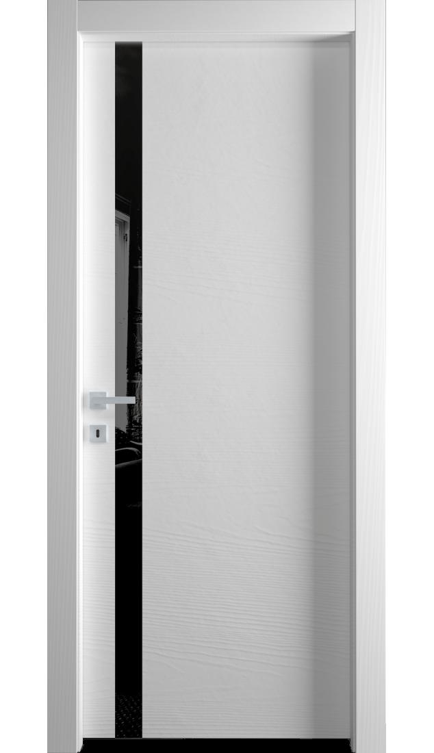Межкомнатные двери Alberoporte VS10 (с чёрным стеклом)