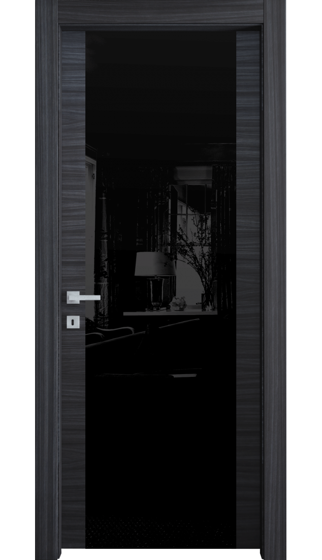 Межкомнатные двери Alberoporte VS35 (с чёрным стеклом)