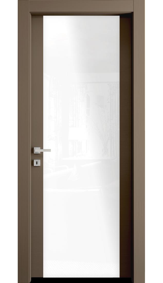 Межкомнатные двери Alberoporte VS35 (с белым стеклом)