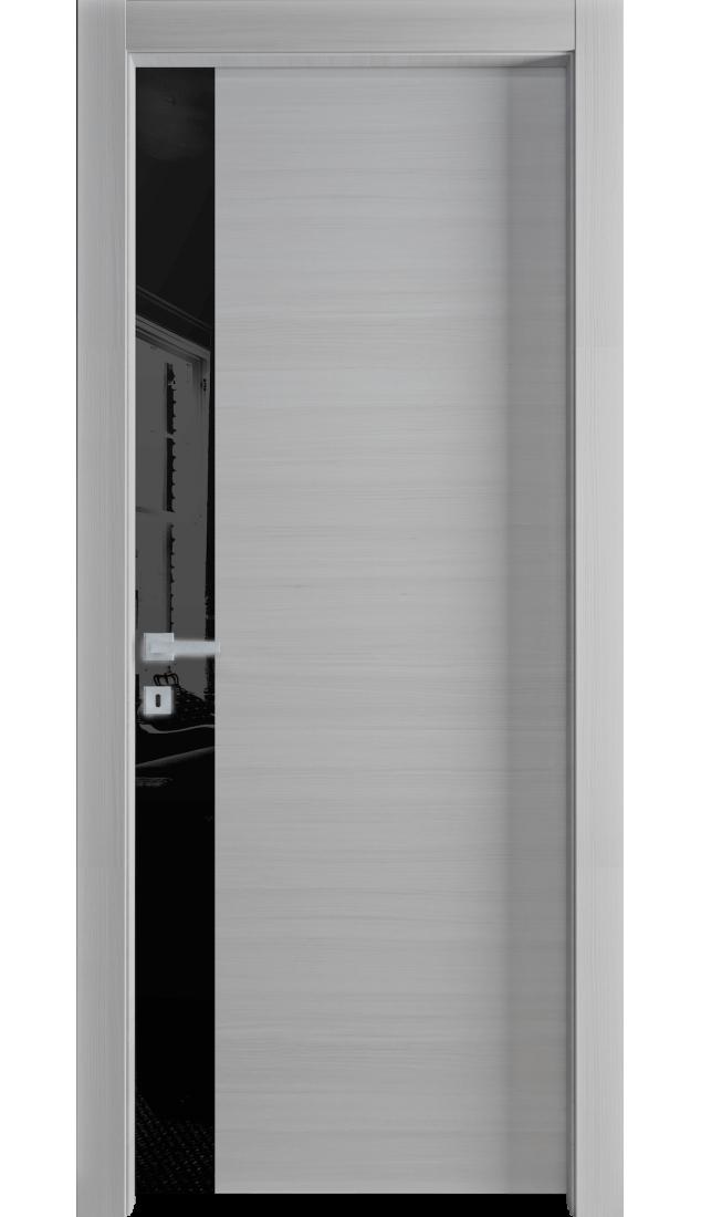 Межкомнатные двери Alberoporte VS004 (с чёрным стеклом)