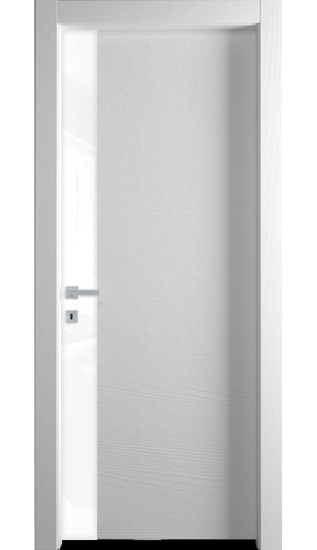Межкомнатные двери Alberoporte VS004 (с белым стеклом)